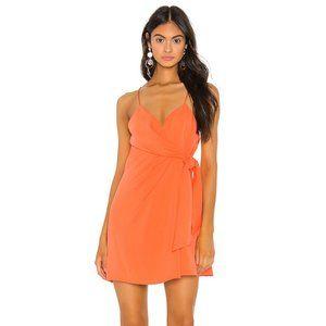 Coral Wrap Dress